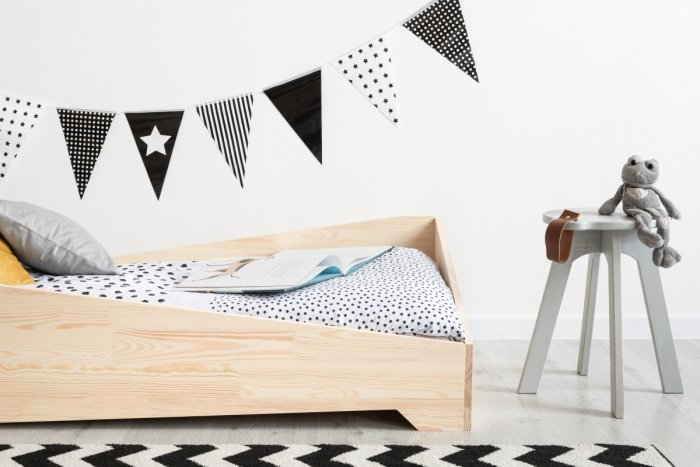 BOX 7 90x160cm Łóżko drewniane dziecięce