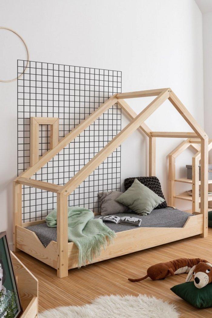 Luna A 90x180cm Łóżko dziecięce domek ADEKO