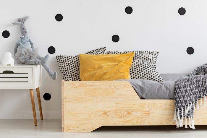 BOX 1 80x190cm Łóżko drewniane dziecięce