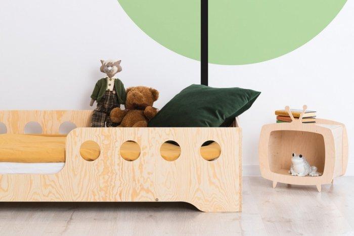 KIKI 5 - L  70x140cm Łóżko dziecięce domek ADEKO