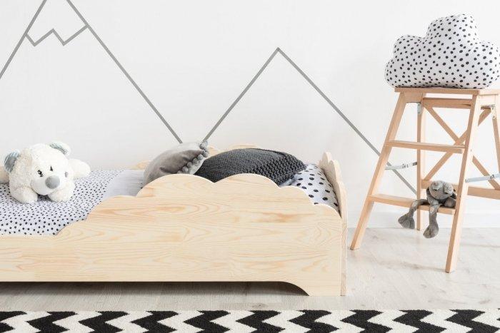 BOX 9 90x150cm Łóżko drewniane dziecięce