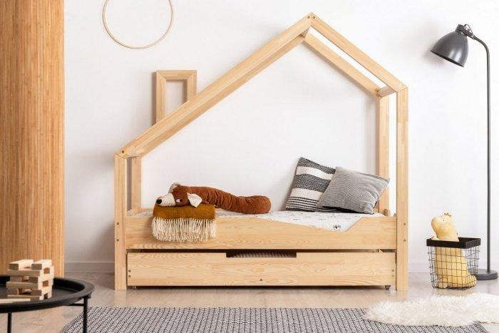 Luna A 80x180cm Łóżko dziecięce domek ADEKO