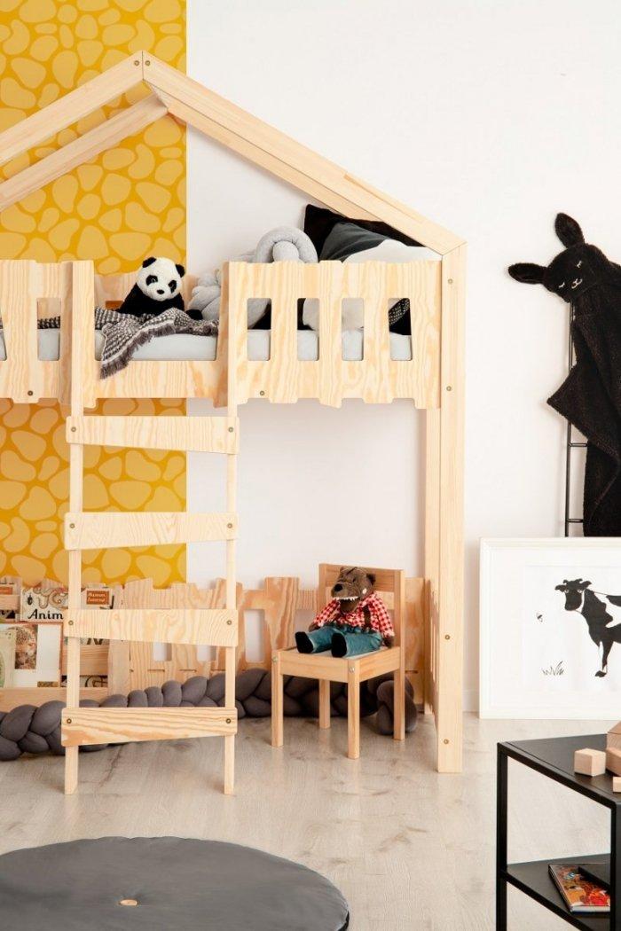 Zippo PA 70x160cm Łóżko piętrowe dziecięce domek Mila ADEKO