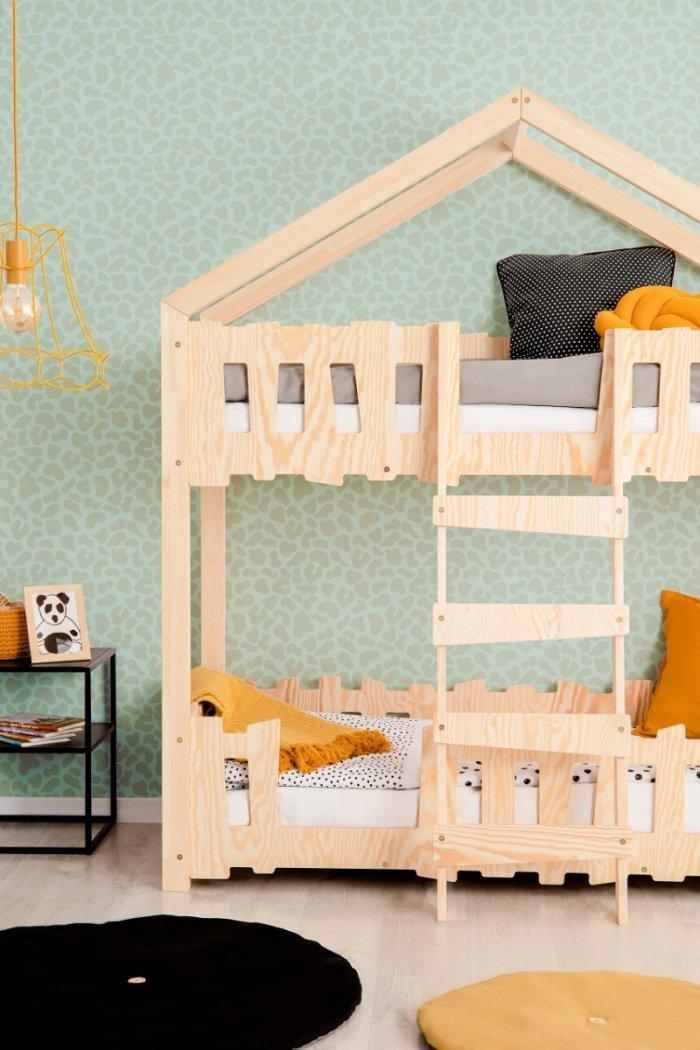 Zippo P 90x160cm Łóżko piętrowe dziecięce domek Mila ADEKO