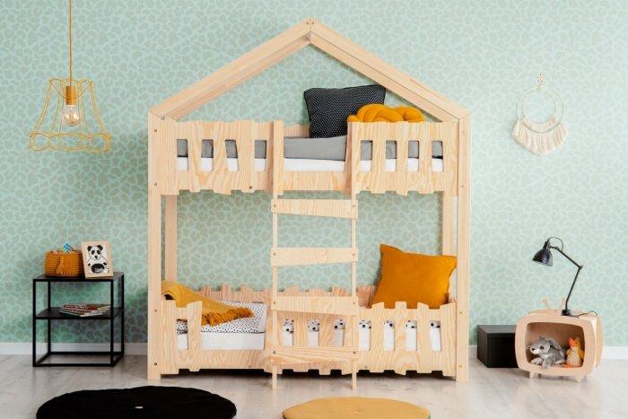 Zippo P 70x160cm Łóżko piętrowe dziecięce domek Mila ADEKO