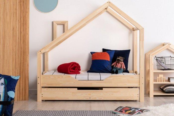Luna B 90x160cm Łóżko dziecięce domek ADEKO