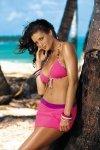 Spódniczka plażowa Marko Meg Gloss Pink Elicious-Sensual M-266 Różowo-jagodowy (215)