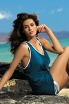 Sukienka plażowa Marko Elsa Venetial M-313 Ciemnozielona (288)