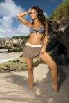 Spódniczka plażowa Marko Meg Cliff-Avorio M-266 Popielato-ecru (217)