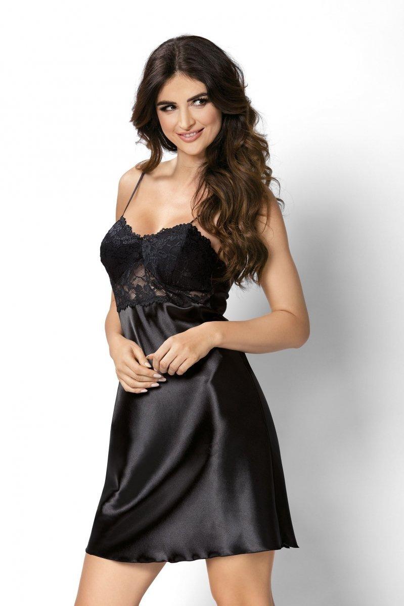 156983d309 Donna Venus czarna Koszula nocna - Koszule i koszulki nocne - Damska ...