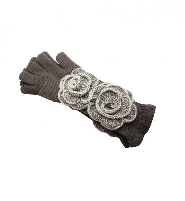 Kamea Larissa Brązowe rękawiczki