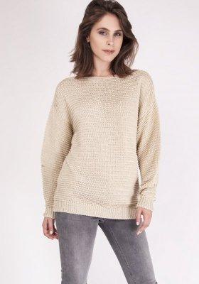 MKMSwetry Beatrix SWE 097 Beżowy sweter damski
