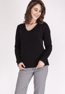 MKMSwetry Victoria SWE 123 Czarny sweter damski