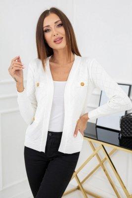 Vittoria Ventini Laluna White Pearl MCY02179 sweter damski