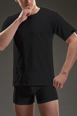 Cornette authentic 202 krótki rękaw plus czarny koszulka