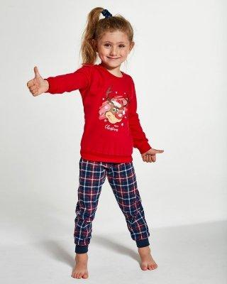 Cornette Kids Girl 594/130 Reindeer 86-128 piżama dziewczęca