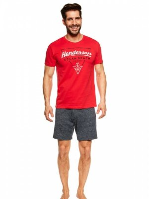 Henderson Jump 36824-33X Czerwono-granatowa piżama męska