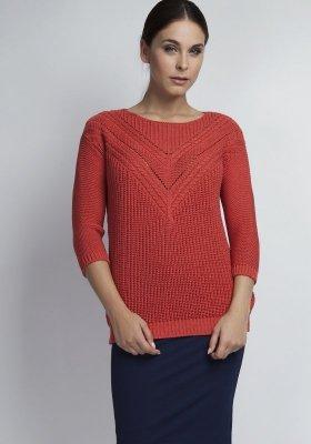 MKM Penny SWE041 koralowy sweter