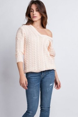 MKMSwetry Kendall SWE 079 różowy sweter