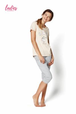Henderson Rakel 35255-03X Pastelowy róż piżama damska