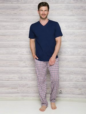Taro Adam 2131 AW/17 K2 Granatowa piżama męska