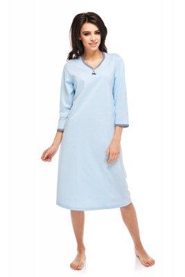 Betina Pamela 236 Błękitna rękaw 3/4 koszula nocna