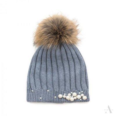 art of polo Perła elegancji Niebieska czapka