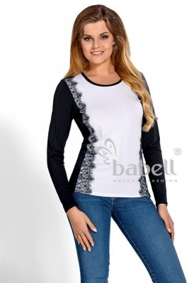 Babell Sila Czarna z bielą bluzka damska