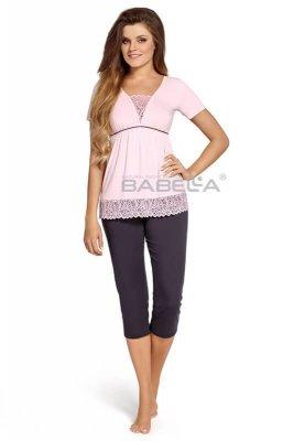 Babella Estera Róż-śliwka piżama damska