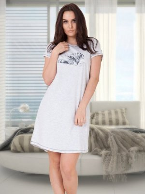 M-Max Angela 636 Szara koszula nocna