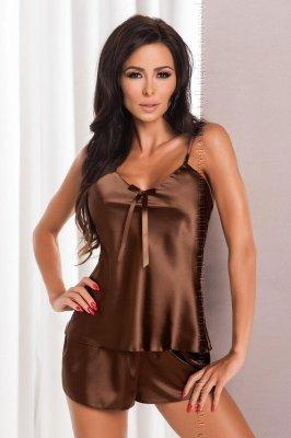 Irall Aria Czekoladowy piżama damska