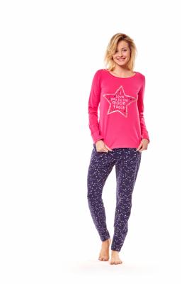 Henderson Moony 36171-42X Różowo-granatowa piżama damska