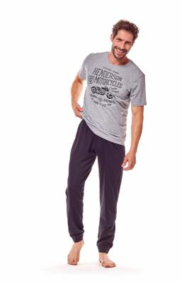 Henderson Force 36204-90X Szaro-czarna piżama męska