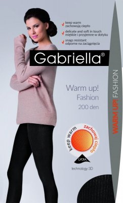 Gabriella Warm Up! Fashion 200 den rajstopy
