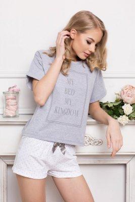Aruelle Kingdom Short Dots & Grey piżama damska
