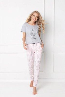 Aruelle Grace Long Grey-Pink piżama damska