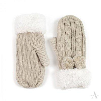 Art of Polo Antarktyda Beżowe rękawiczki