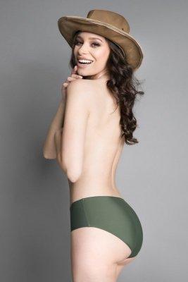 Julimex Simple Panty Khaki figi