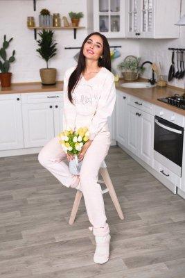 Leinle Glamour 786 Welurowy Premium piżama damska
