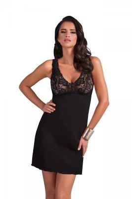 Donna Sally czarna Koszula nocna