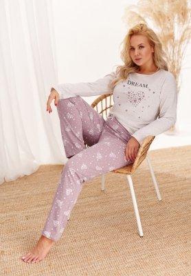 Taro Mela 2464 AW/20 - Kolor 02 - Beżowy-mocca piżama damska