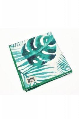 Henderson Ladies  Ferry 70x140cm 38130-76X Biało-Zielony ręcznik plażowy