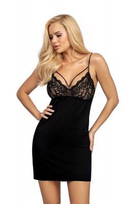 Donna Lulu czarna Koszula nocna