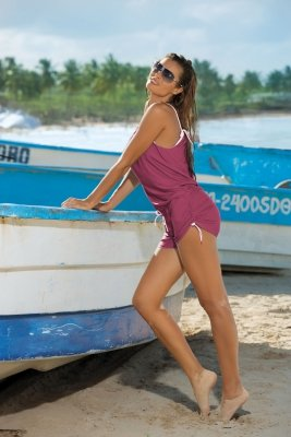 Tunika plażowa Marko Leila M-312 Magenta