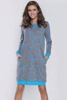 Italian Fashion Grey dł.r. koszula nocna