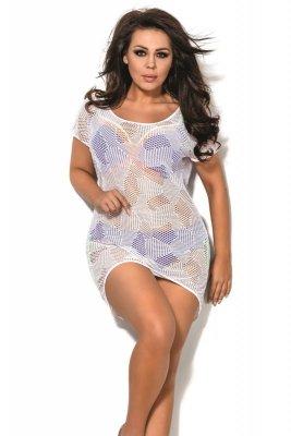 Ava sp 1 plus biały sukienka plażowa