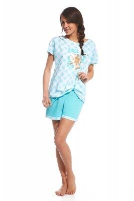 Cornette 675/69 Rabbit biało turkusowy piżama damska