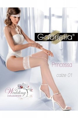 Gabriella 185 princessa 01 bianco pończochy