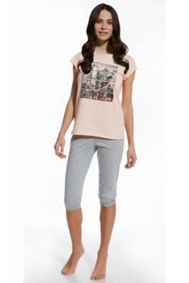 Cornette 581/22 City of love różowy piżama damska