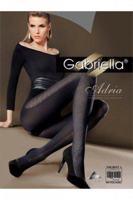 Gabriella 353 adria nero rajstopy